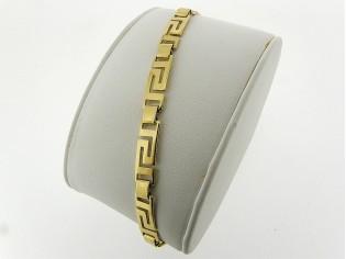 Gouden armbandje met Griekse stijlvolle schakeltjes en vlindersluiting