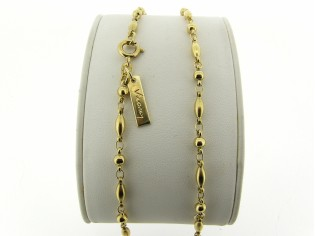 Gouden halsketting fantasie balletjes kettinkje