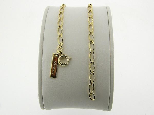 Gouden armbandje met gediamanteerde close for ever schakeltjes