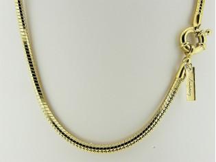 Gouden halsketting facet geslepen slangen ketting met modische veersluiting