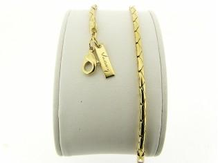 Gouden armbandje met kleine Paloma slangen schakeltjes