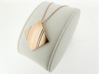 Rosé gouden ketting met hangertje Franse pendant