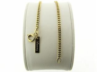 Gouden armbandje met klassiek gourmet schakeltje