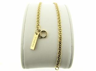 Gouden armbandje met gourmet fantasie schakeltjes