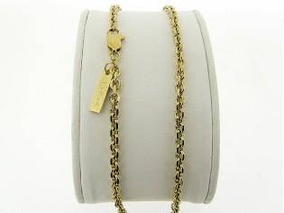 Gouden halsketting fragiel Jasseron fantasie schakel collier