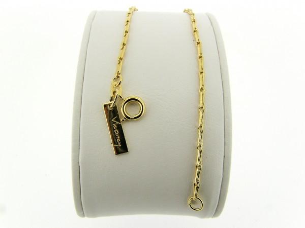Gouden armbandje met mini close for ever koren schakeltjes