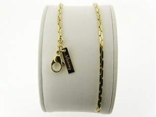 Gouden armbandje met gediamanteerd geslepen schakeltjes