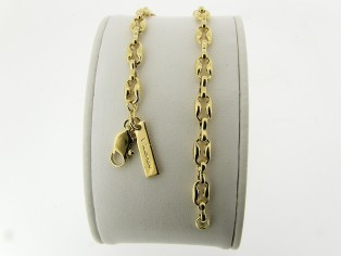 Gouden armband met fantasie close for ever schakeltjes
