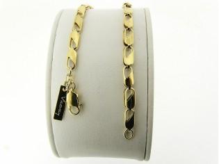 Gouden armbandje met fantasie close for ever schakeltjes