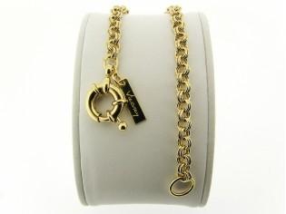 Gouden dubbele jasseron armband