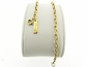 Gouden armbandje met kleine vierkante close for ever schakeltjes