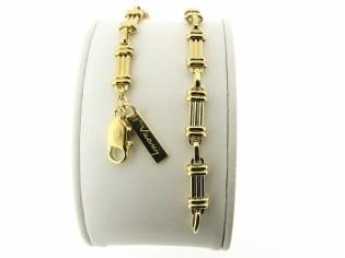 Gouden armband met fantasie mode schakel
