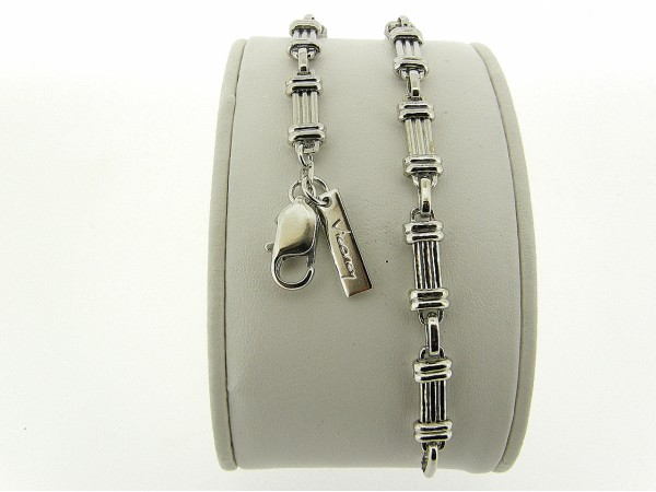 Zilveren armband met Franse schakeltjes