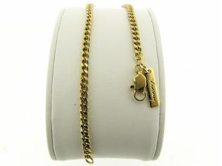 Gouden armbandje met gediamanteerd geslepen gourmet schakeltjes