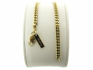 Gouden armbandje met gourmet schakeltjes gediamanteerd geslepen
