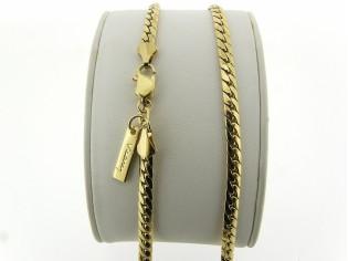 Gouden halsketting gourmet Luna cobra slangen collier