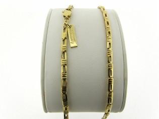 Gouden halsketting fantasie met kleine schakeltjes ketting