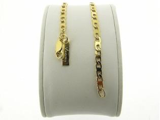 Gouden armbandje met fantasie open gourmet schakeltjes