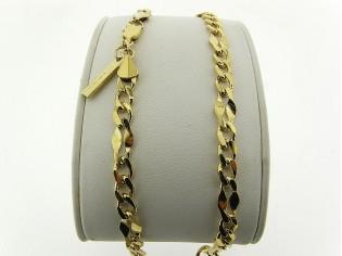 Gouden halsketting fantasie gourmet schakeltjes ketting