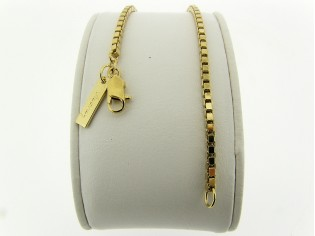 Gouden armbandje met Venetiaanse schakeltjes
