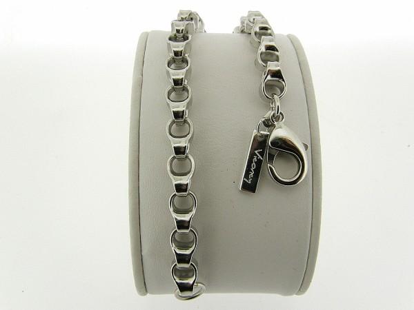 Zilveren armband met dubbele grote fantasie jasseron schakels