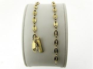 Gouden armbandje met anker schakeltjes