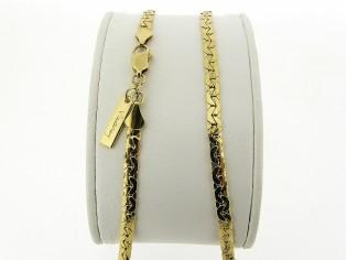 Gouden halsketting dunne hoogglanzend gevlochten slangen collier
