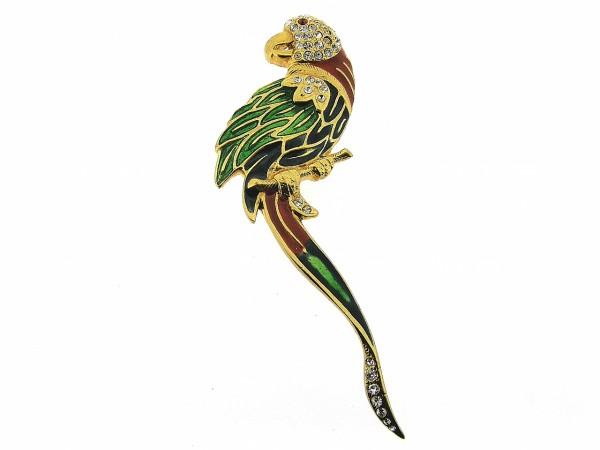 Stijlvolle broche metgeëmailleerde paradijs vogel