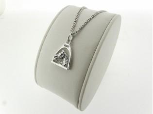 Zilveren gourmet ketting met paard hangertje