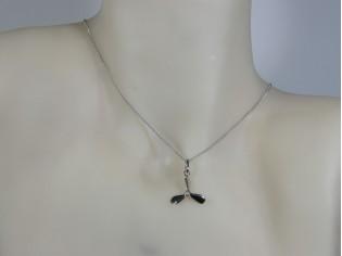 Zilveren Pendant collier met hangertje propellerschroef