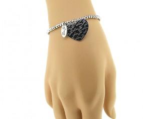 Zilveren rekarmband met charm, charmante zilveren armband