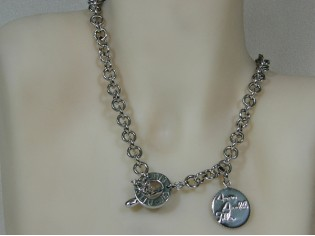 Zilveren Liu Jo jasseron collier met kapittel sluiting