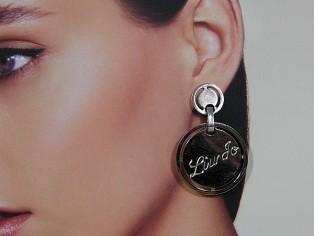 Zilverenoorhanger, modieuze Liu Jo oorbellen