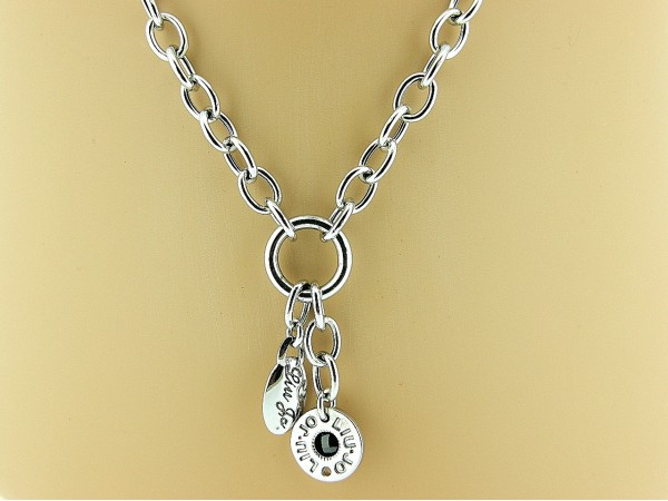 Zilveren ketting jasseron, Liu Jo close for ever collier met charms
