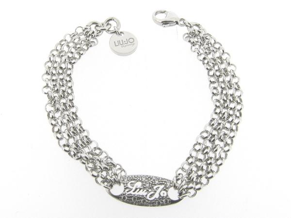 Zilveren armband 4-rijig jasseron Italiaans Liu Jo armband