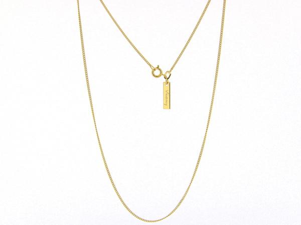 Gouden halsketting dunne gourmet Pendant kettinkje