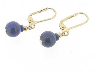 Gouden oorhanger Lapis Lazuli edelsteen
